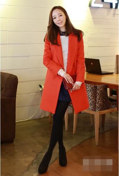 新年穿新衣撞大运 红色大衣搭配图片