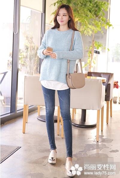甜美毛衣搭配图片 轻松穿出迷人气质4
