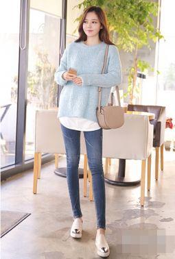 甜美毛衣搭配图片 轻松穿出迷人气质