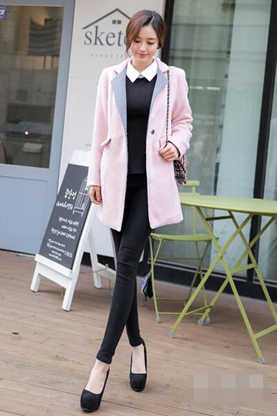 粉色时尚大衣唯美动人 冬季约会必备穿搭