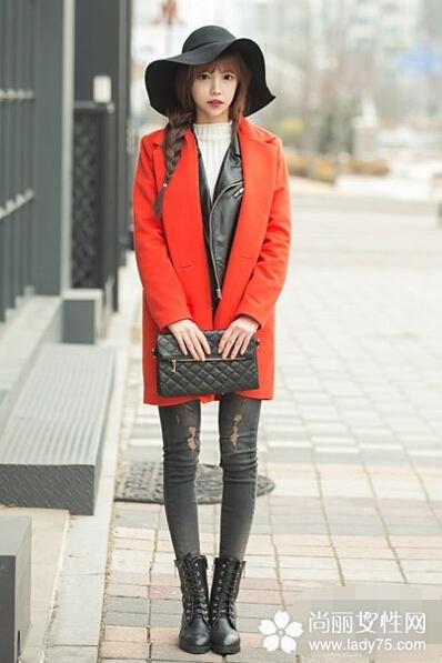 逢年过节红色大衣外套搭配 红红火火过新年1