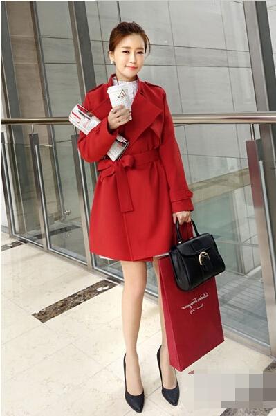 逢年过节红色大衣外套搭配 红红火火过新年