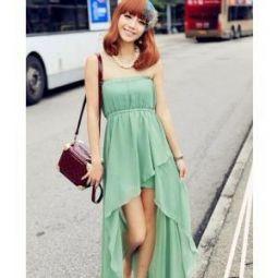 夏季抹胸裙是展露一个女性性感魅力的制胜法宝