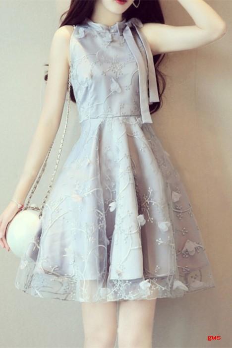 夏季无袖连衣裙梨形身材女生的福音