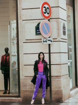 超模奚梦瑶的巴黎街拍