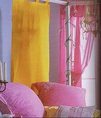 绝妙的窗帘搭配方式打造温馨卧室
