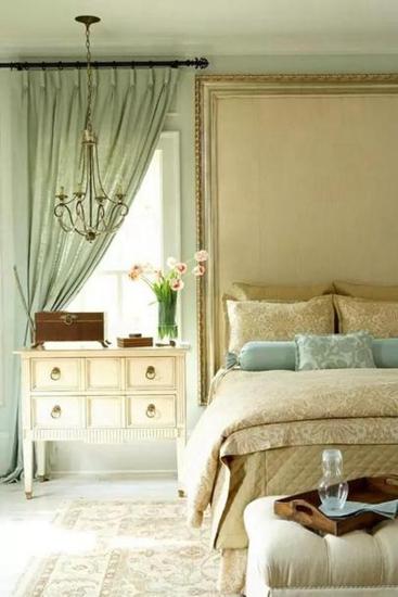 16款卧室窗帘设计窗帘+床品的完美搭配