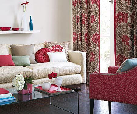 客厅软装搭配窗帘与沙发的对话