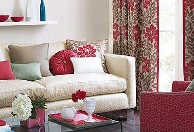 6种时尚客厅设计窗帘与沙发混搭