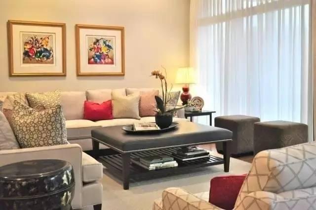沙发搭配窗帘 让客厅美美哒!
