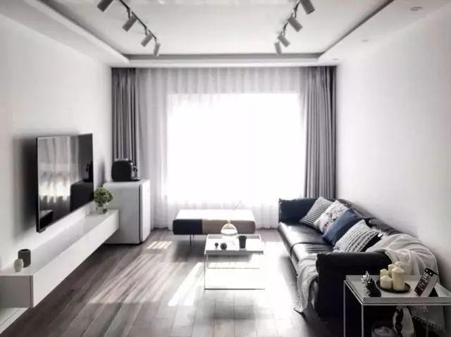简约客厅,这样配窗帘,舒适年轻!