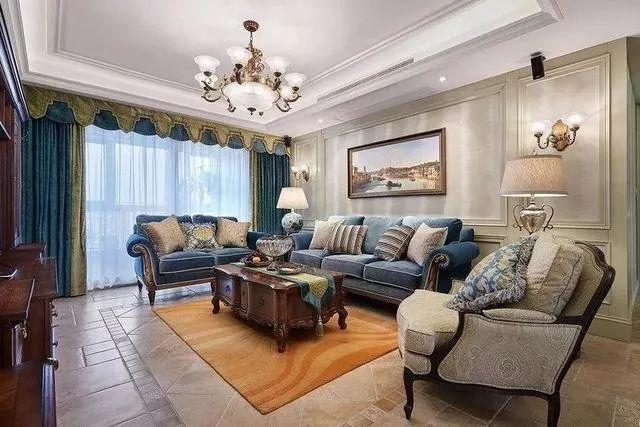 高大上的装修,客厅都是这样搭配窗帘的!