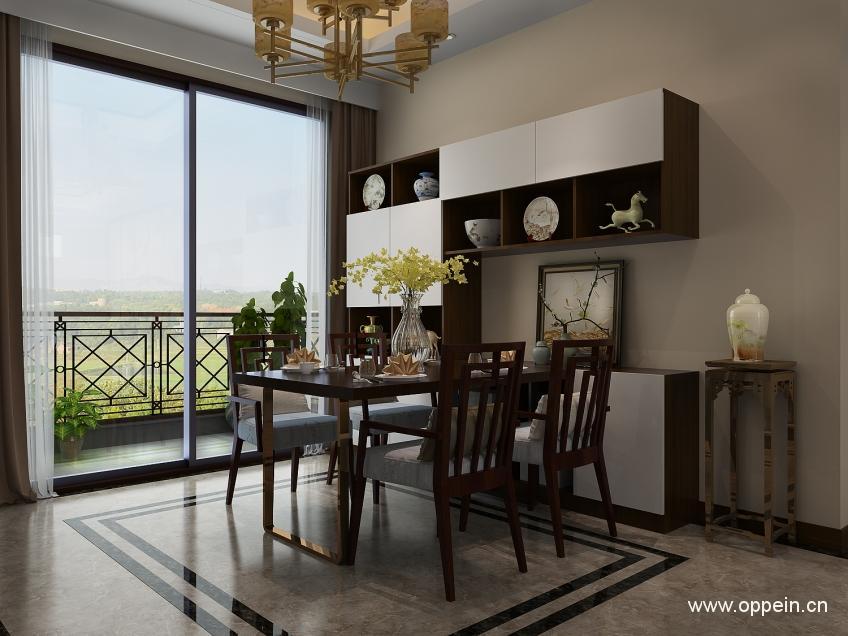 新古典窗帘风格 漂亮的餐厅窗帘效果图欣赏